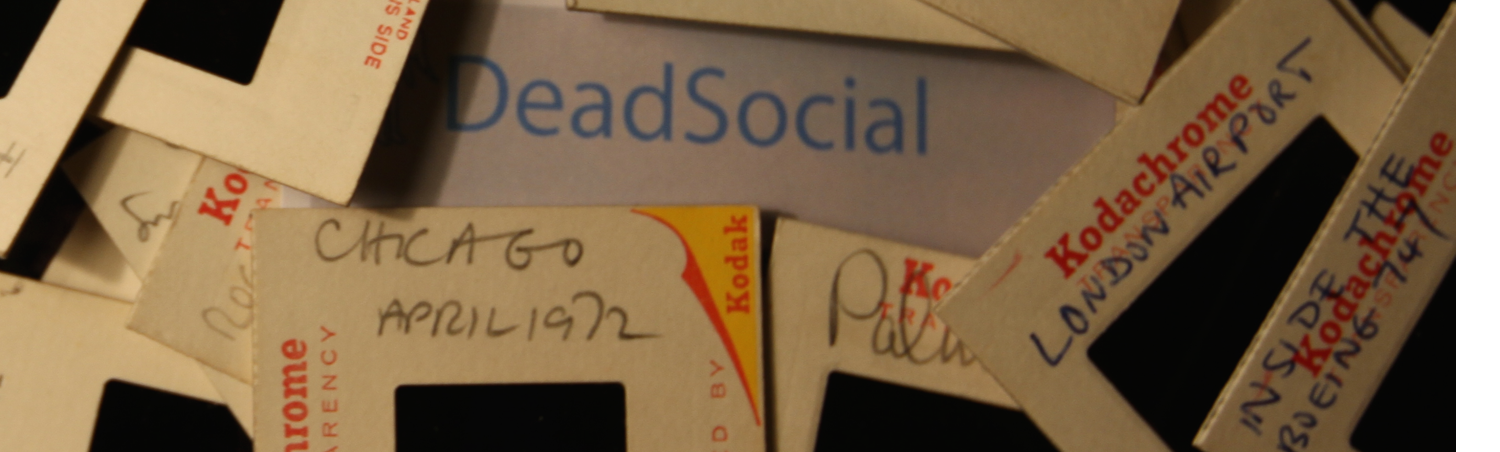 DeadSocial Contact page header with slides version 3