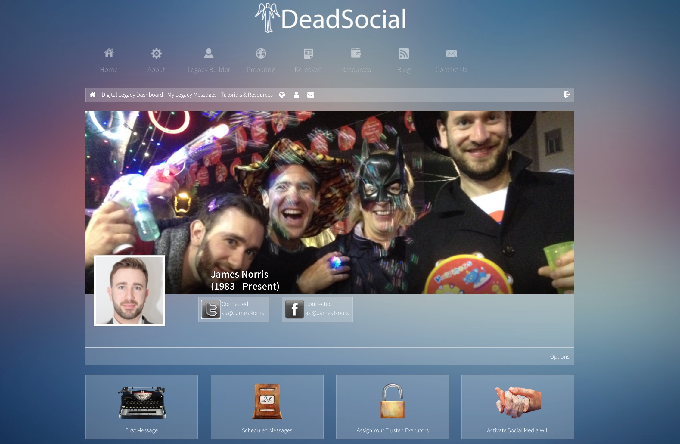 DeadSocial Profile