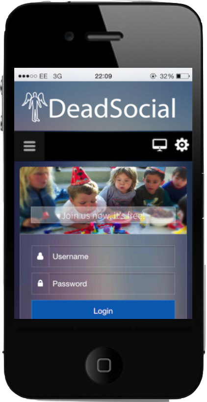 DeadSocial works on your mobile phone