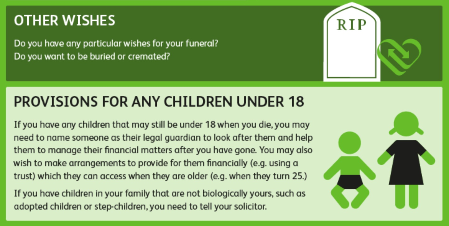 Funeral Wishes - Write a Will