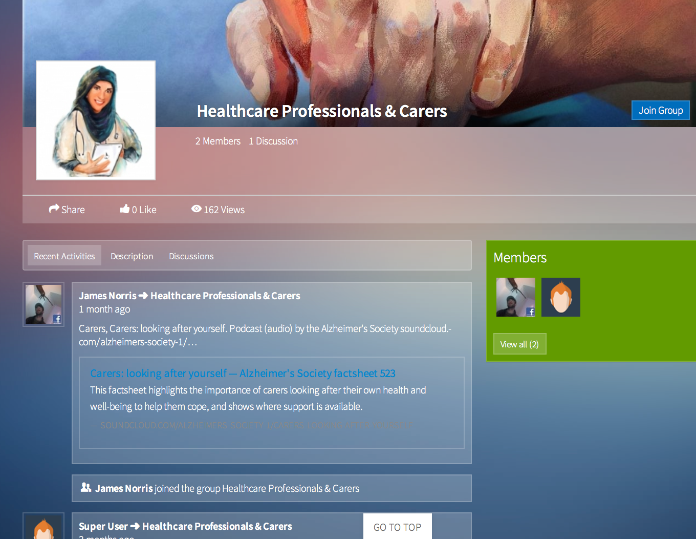 Healthcare professional forum will release in May  June