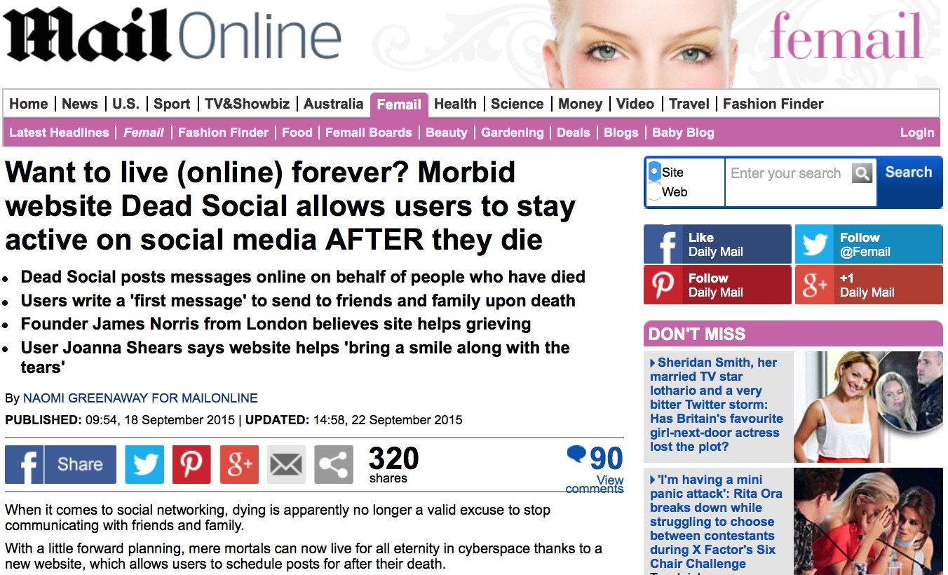 DeadSocial Daily Mail